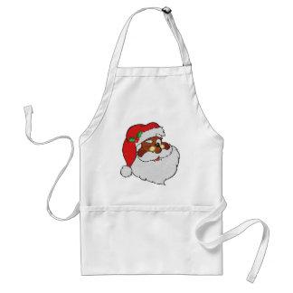 Vintage Styled Black Santa Image Apron