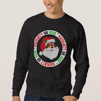 Vintage Styled Black Santa Image Sweatshirt