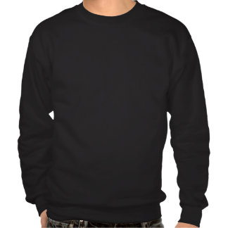 Vintage Styled Black Santa Image Pull Over Sweatshirt
