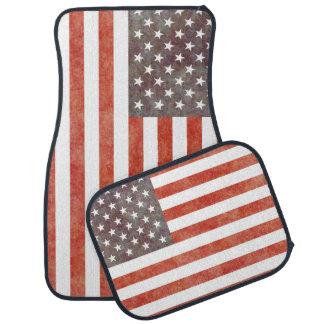 """VINTAGE STYLED USA FLAG"" CAR MAT"