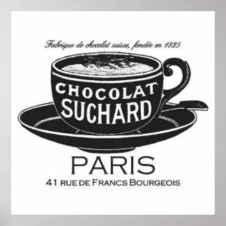 Vintage Suchard Chocolat Ad Poster