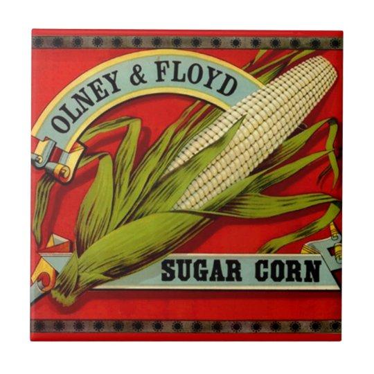 Vintage Sugar Corn Olney & Ford Produce Label