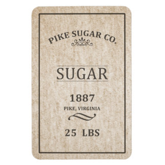 Vintage Sugar Sack Rectangular Photo Magnet
