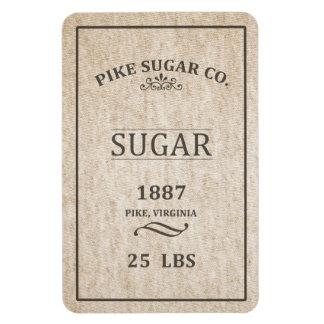 Vintage Sugar Sack Rectangular Photo Magnet