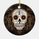 Vintage Sugar Skull Ornament