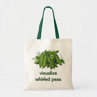 Vintage Sugar Snap Peas, Healthy Food Vegetables Tote Bag