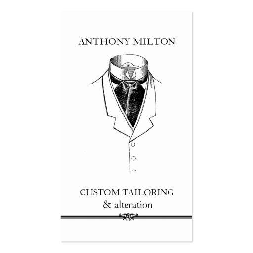 Vintage Suit/Simple Elegant Tailor Business Card