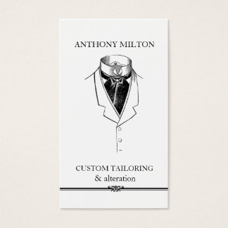 Vintage Suit/Simple Elegant Tailor Business Card