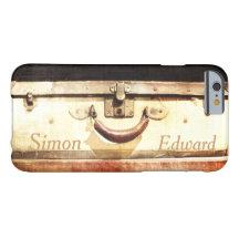 Vintage Suitcase Custom Name iPhone 6 Case