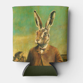 Vintage Suited Hare Can Cooler