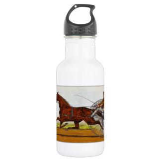 Vintage Sulky Horse Racing 532 Ml Water Bottle