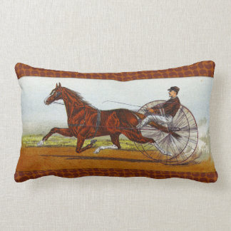 Vintage Sulky Horse Racing Cushion