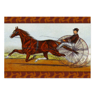 Vintage Sulky Horse Racing Pack Of Chubby Business Cards