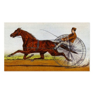 Vintage Sulky Horse Racing Pack Of Standard Business Cards