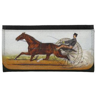 Vintage Sulky Horse Racing Women's Wallet
