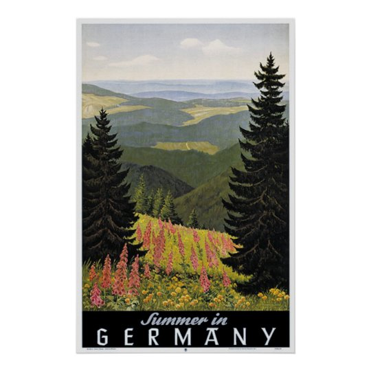 Vintage Summer in Germany Travel Poster