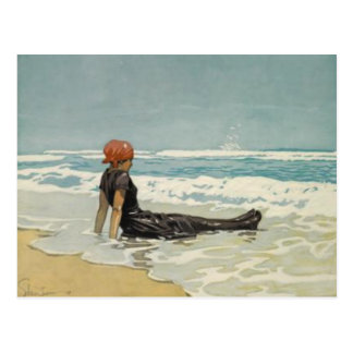 Vintage Summer Postcard From The Beach [no text]