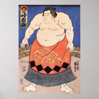Vintage Sumo Poster