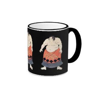 Vintage Sumo Wrestler Ringer Mug