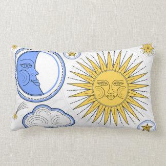 Vintage Sun andmoon Lumbar Cushion