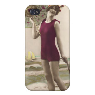 Vintage Sun Bather Beach Babe 4  Case For iPhone 4