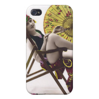 Vintage Sun Bather Beach Babe 4  Cover For iPhone 4