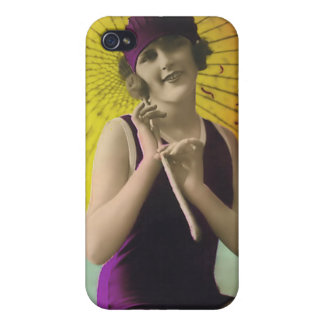 Vintage Sun Bather Beach Babe 4  Covers For iPhone 4