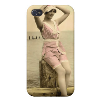 Vintage Sun Bather Beach Babe 4  iPhone 4/4S Cover