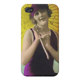 Vintage Sun Bather Beach Babe 4  iPhone 4 Cases
