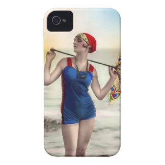 Vintage Sun Bather Beach Babe Case-Mate Case Case-Mate iPhone 4 Cases