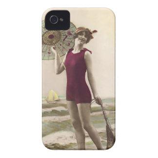 Vintage Sun Bather Beach Babe Case-Mate Case Case-Mate iPhone 4 Case