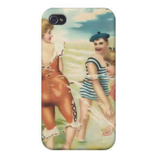 Vintage Sun Bather Beach Babes 4  Case For The iPhone 4
