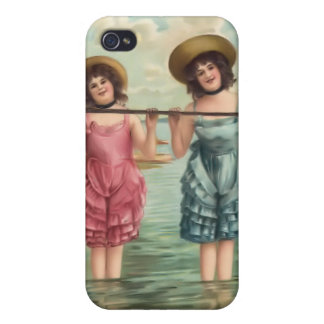 Vintage Sun Bather Beach Babes 4  Cases For iPhone 4