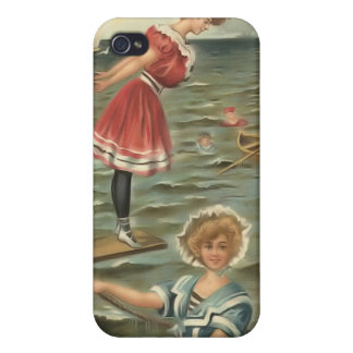 Vintage Sun Bather Beach Babes 4  iPhone 4/4S Case