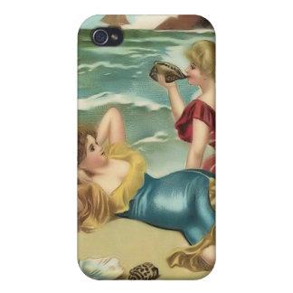 Vintage Sun Bather Beach Babes 4  iPhone 4 Case