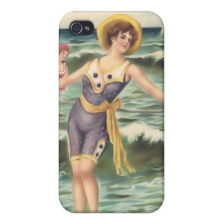 Vintage Sun Bather Beach Babes 4  iPhone 4 Cases
