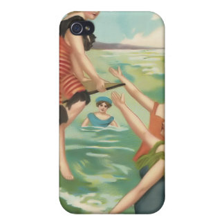 Vintage Sun Bather Beach Babes 4  iPhone 4 Cover