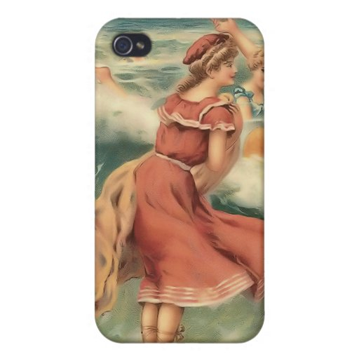 Vintage Sun Bather Beach Babes 4  Covers For iPhone 4