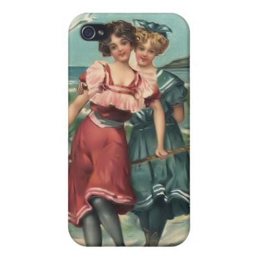 Vintage Sun Bather Beach Babes 4  iPhone 4/4S Cases