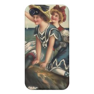 Vintage Sun Bather Beach Babes 4  Case For iPhone 4