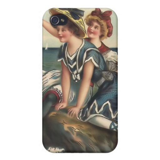 Vintage Sun Bather Beach Babes 4  Case For iPhone 4