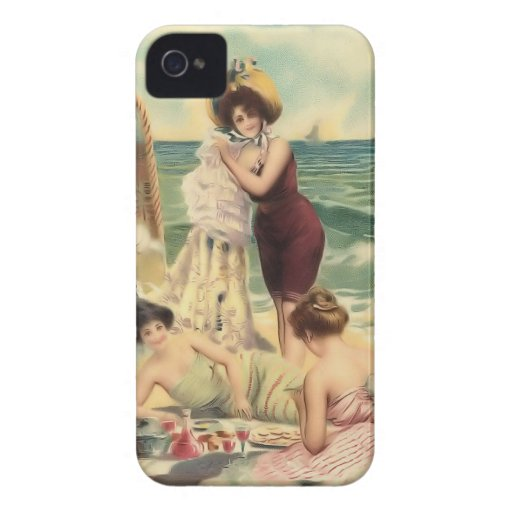 Vintage Sun Bather Beach Babes Case-Mate Case Blackberry Bold Covers