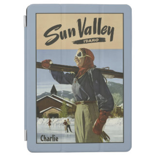 Vintage Sun Valley custom name device covers iPad Air Cover
