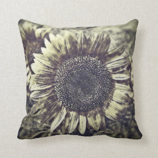 Vintage Sunflower artwork #3 - Pillow