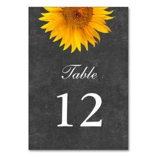 Vintage Sunflower Chalkboard Wedding Table Cards