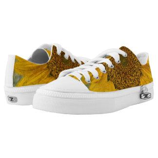 Vintage Sunflower Low Top Lace Shoes