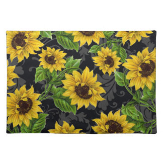 Vintage sunflower pattern placemat