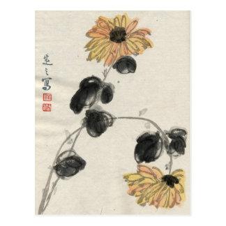 Vintage Sunflower Postcard