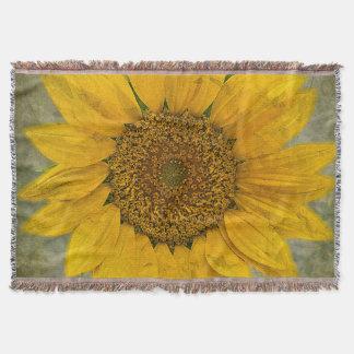 Vintage Sunflower Throw Blanket