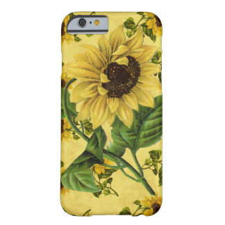 Vintage Sunflowers Barely There iPhone 6 Case